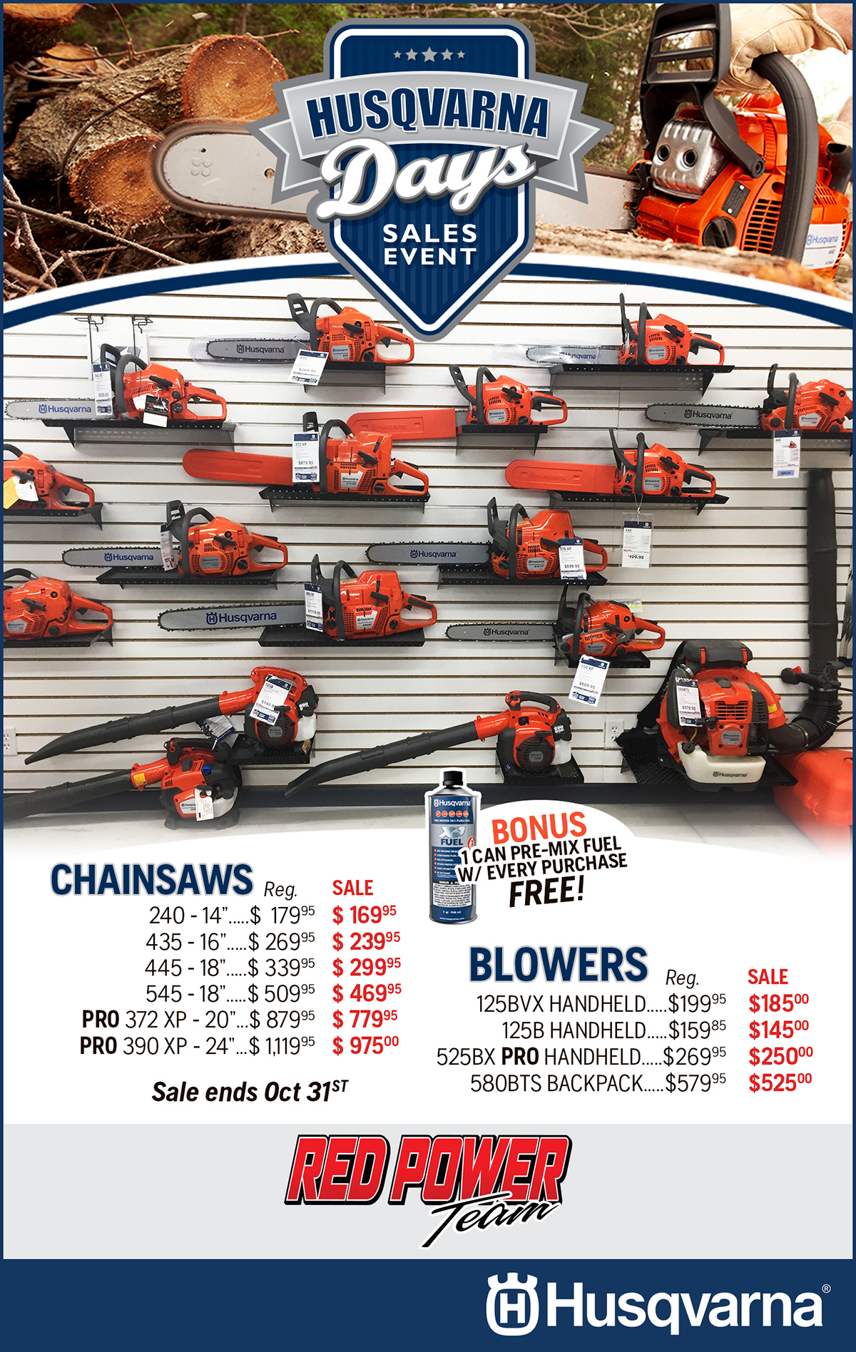 Husqvarna Days Sales Event