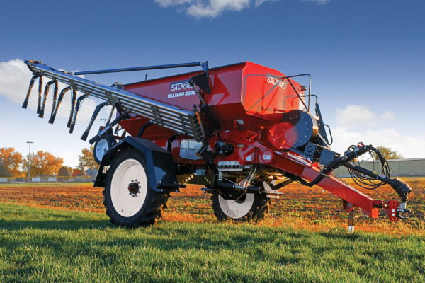 Salford Group Valmar 8700 Pull-Type Fertilizer Spreader for sale at Red Power Team, Iowa